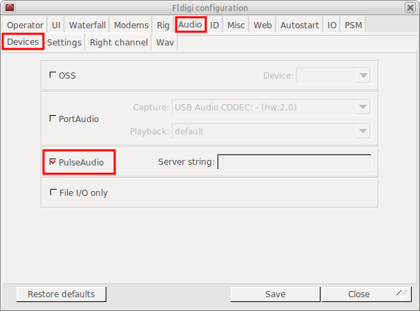 FLDIGI with SCU-17 on Ubuntu