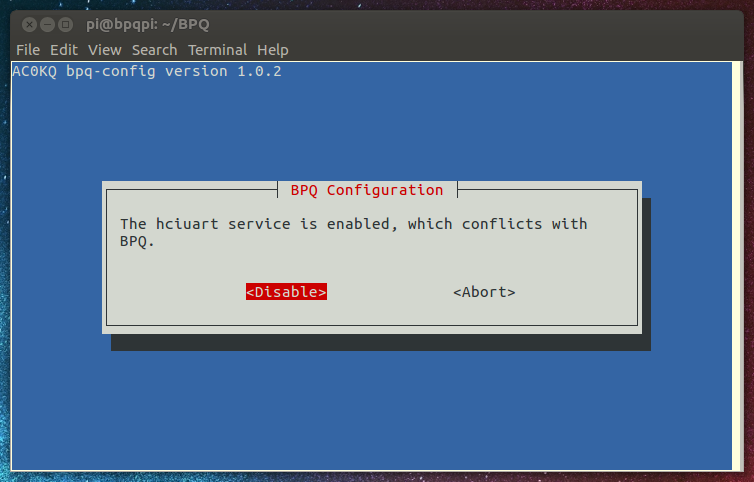 BPQ Quick Start with bpq-config